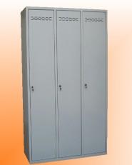 Троен метален шкаф