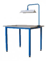 Working table with lighting