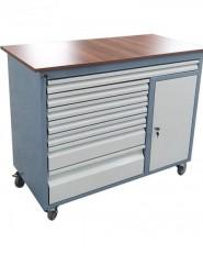 Подвижен метален шкаф с чекмеджета